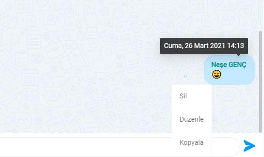 MobiKoB anlik mesajlasmada mesaj duzenleme - MobiKoB Anlık Mesajlaşma Uygulaması Kullanımı
