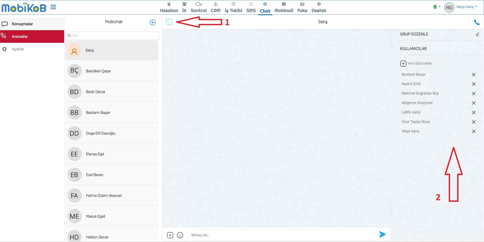MobiKoB chat uygulamasi duzenleme ekrani - MobiKoB Anlık Mesajlaşma Uygulaması Kullanımı