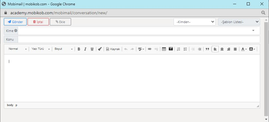 kurumsal eposta yeni ileti - Kurumsal E-posta Ayarları