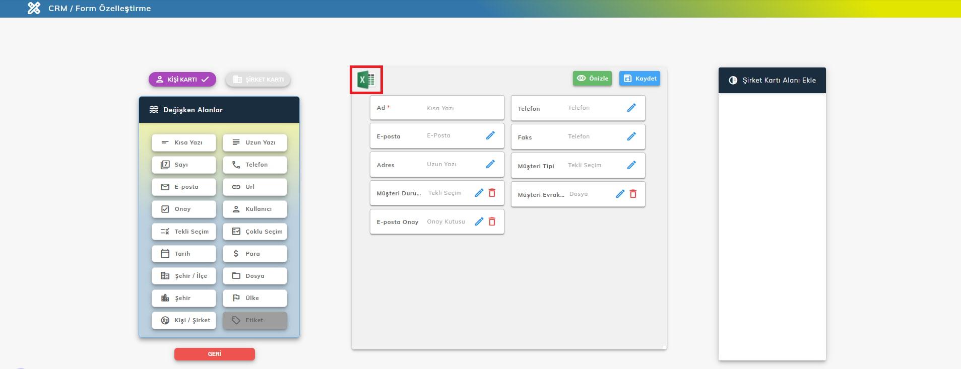 excelden veri aktarma - MobiKoB CRM Programı Müşteri Yönetimi